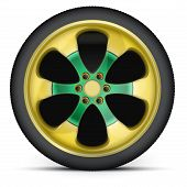 Rim of sports racing car