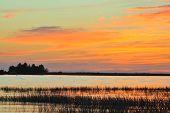 Sunset On A Lake.