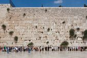 People pray at the western wall, Jerusalem
