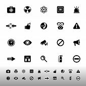 General Healthcare Icons On White Background