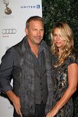 Kevin Costner and Christine Baumgartner at the 64th Primetime Emmy Award Performer Nominee Reception, Spectra by Wolfgang Puck, West Hollywood, CA 09-21-12