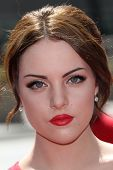Elizabeth Gillies at the 2012 Primetime Creative Arts Emmy Awards, Nokia Theater L.A. Live, Los Angeles, CA 09-15-12