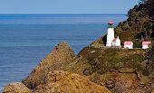 Close View Of Heceta Head Lighthouse On Oregon Coast