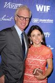 Brad Hall, Julia Louis-Dreyfus at the Variety and Women In Film Pre-Emmy Event, Scarpetta, Beverly Hills, CA 09-21-12