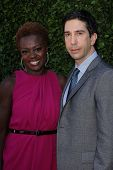Viola Davis, David Schwimmer at the Rape Treatment Center Fundraiser hosted by Viola Davis and honoring Norman Lear, Greenacres, Neberly Hills, CA 10-14-12