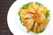 Asian Style food appetizer Deep Fried Wonton