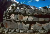 Mani Walls Built Along High Himalayan Trail