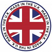 Made in The U.K. Stamp Decal Vector
