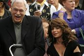 Phil Jackson and Paula Abdul at the Ceremony Honoring Los Angeles Lakers Owner Jerry Buss with the 2,323rd star on the Hollywood Walk of Fame. Hollywood Boulevard, Hollywood, CA. 10-30-06