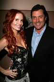 Phoebe Price and Jeff Rector at the birthday party for Phoebe Price. Private Location, Los Angeles,