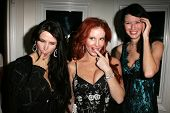 Jackie Watson with Phoebe Price and Andrea Harrison at the birthday party for Phoebe Price. Private