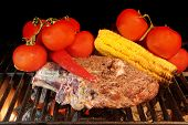 Grilled Rib Steak And Vegetables