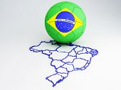 Brazil  2014, 3d illustration
