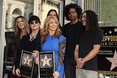 Rita Wilson, Ann Wilson, Nancy Wilson, Alice in Chains at the induction ceremony for Heart into the