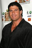 Jose Canseco at the launch party for the Carmen Electra PrePaid MasterCard and the Carmen Electra Gi