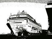 Cruise Ship Illustration