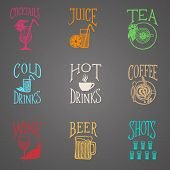 Colorfull menu icons - Drinks