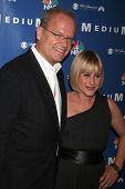 Kelsey Grammer and Patricia Arquette at the NBC fall party for the hit drama