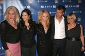 Alexis Arquette, Courteney Cox, Rosanna Arquette, Thomas Jane and Patricia Arquette at the NBC fall party for the hit drama
