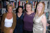 Rhonda Jo Petty, Laurie Holmes, Jill C. Nelson, Serena at a book signing for