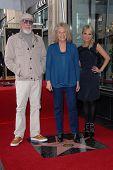 Lou Adler, Carole King, Kristin Chenoweth at the Carole King Hollywood Walk Of Fame Ceremony, Hollywood, CA 12-03-12