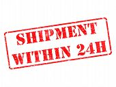 Shipment within 24h on Red Rubber Stamp.