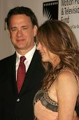 LOS ANGELES - NOVEMBER 18: Tom Hanks and Rita Wilson at the 2nd Annual A Fine Romance, Hollywood and Broadway Musical Fundraiser in Sunset Gower Studios November 18, 2006 in Hollywood, CA.