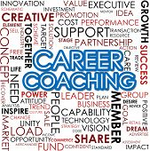 stock photo of self assessment  - Career Coaching Word Cloud image with hi - JPG