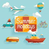 Flat design. Summer holiday.