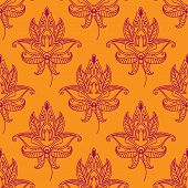 Paisley seamless floral pattern