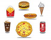 Fast food and takeaway food icons
