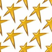 Golden stars seamless background pattern