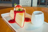 Crepe Cake With Strawberry Sauce