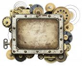 stock photo of steampunk  - Stylized mechanical collage background - JPG