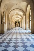 image of versaille  - Corridor of Versailles Chateau Palace Paris France - JPG