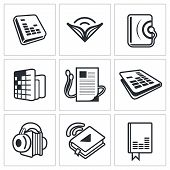 Audio Book Icon Collection