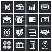 Money Finance Icons Set
