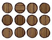woodgrain circles