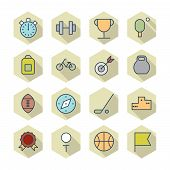 Thin Line Icons For Sport