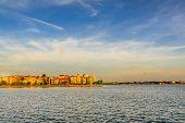 Sunset on West lake, Ho tay, Hanoi, Vietnam