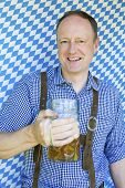 Bavarian Man With Beer Mug