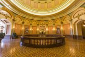 SACRAMENTO, CALIFORNIA - JULY 4, 2014:  Second floor rotunda inside California's historic state capi