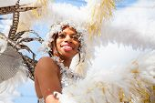 ROTTERDAM, THE NETHERLANDS - July 29, 2007, Carnival dancer in te parade at the Caribbean Carnival i