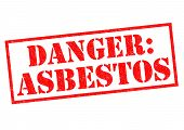 image of asbestos  - DANGER - JPG