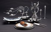 Set of luxury stainless tableware