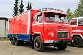 Classic Scania Vabis LBS76 Trailer Truck