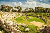 Ancient Roman Amphitheatre Of Syracuse