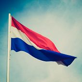 Retro Look Flag Of Luxembourg