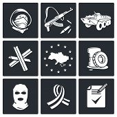 Opposition Icon Set