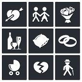 People's Lives Icons Set
